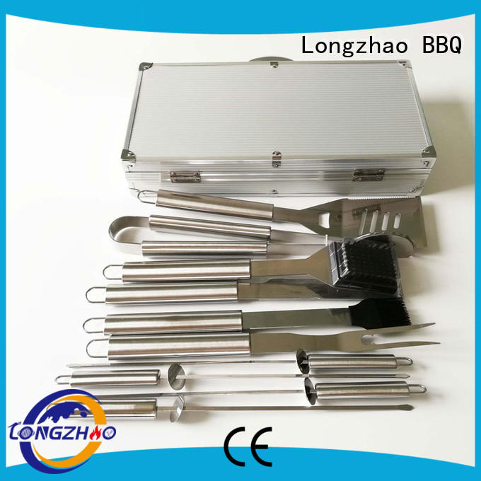 Hot gas barbecue bbq grill 4+1 burner factory direct Longzhao BBQ Brand