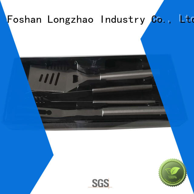Longzhao BBQ stainless steel grill tools set custom for barbecue
