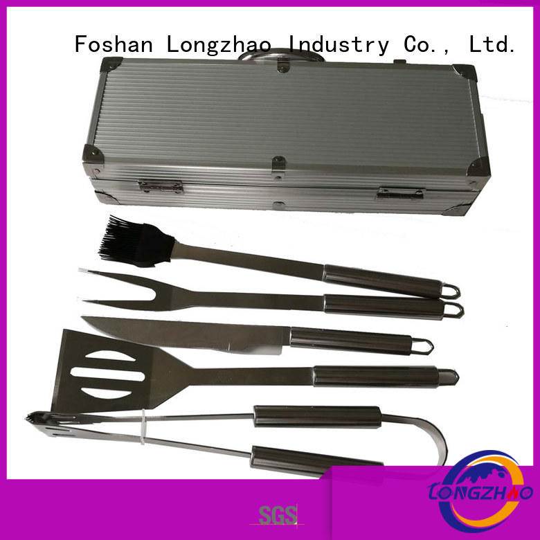 Wholesale manufacturer direct selling gas barbecue bbq grill 4+1 burner Longzhao BBQ Brand