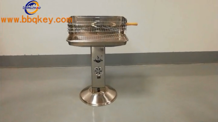 Stainless Steel 16 Pillar BBQ Grill Adjustable Cooking Stand