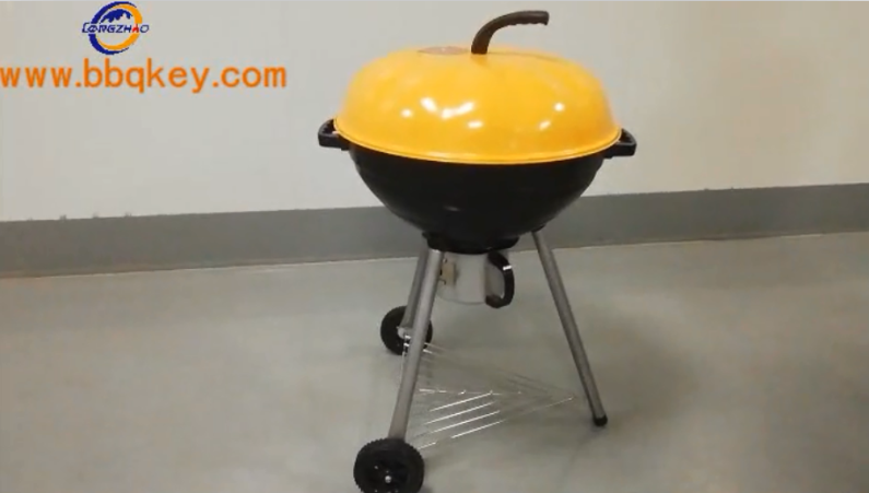 Unique 22Unique 22 Kettle Pumpkim Charcoal BBQ Grill Easy Moving