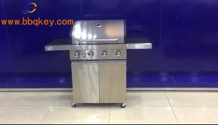 Silver Large Base Storage Base 4+1 Burners Gas Grill