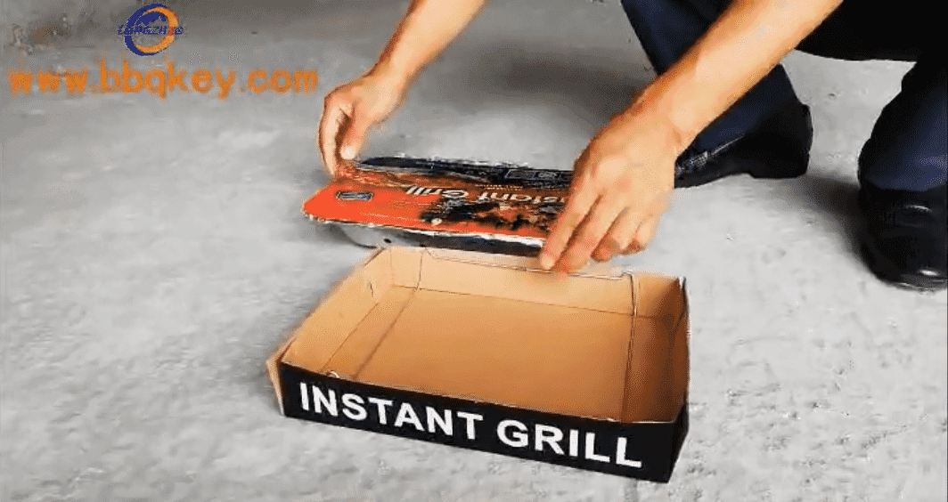 500g 600g 1000g Disposable Instant Light Camping BBQ Grill