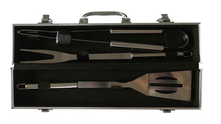 Aluminum Case 3PCS Stainless Steel BBQ Tools Set