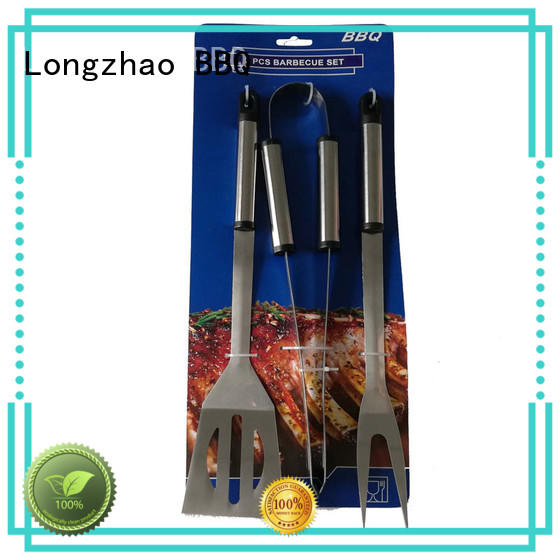 Longzhao BBQ easily cleaned grill tool sets hot-sale for gatherings