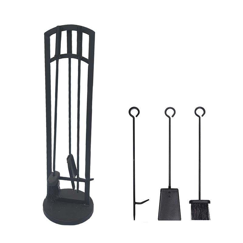 4 Piece Fire Companion Set With Stand For Wholesales- FT020