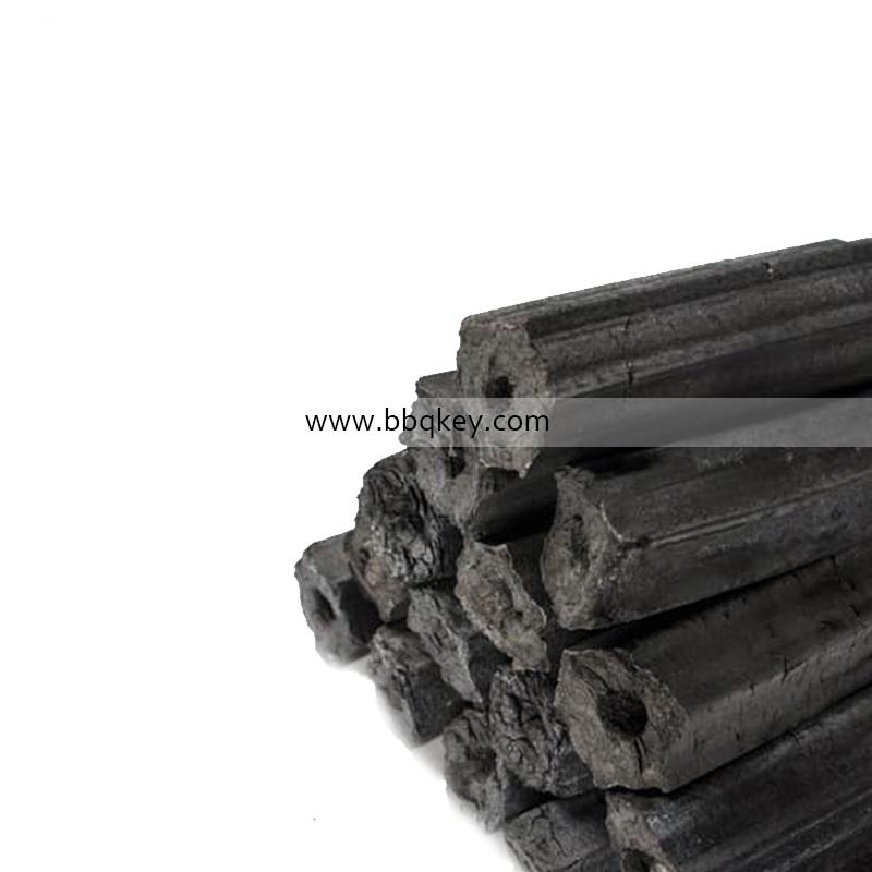 Machine Made Long Burning Hexagonal Sawdust Charcoal Wood Sawdust Barbecue Charcoal For BBQ
