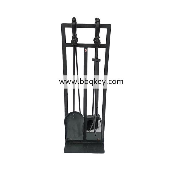 Modern Cast Wrought Iron Fireplace Fireside Accessories Surround 5PCS Fireplace Tool Set