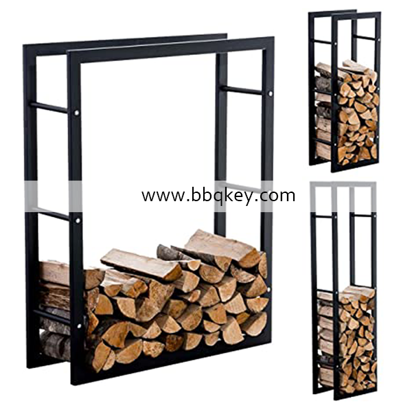Indoor Outdoor Round Iron Metal Fire Logs Fireplace Firewood Rack Log Holder For Fireplace