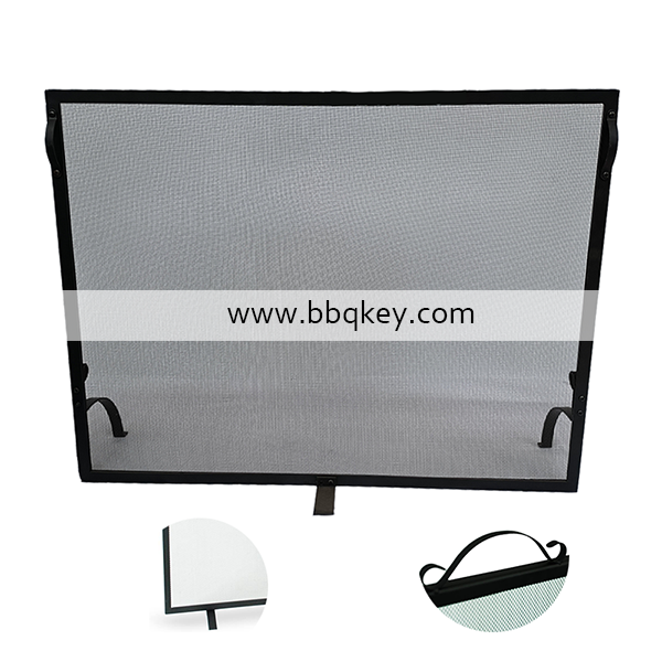 Free Standing Single Panel Fireplace Spark Flame Guard Screen Fireplace Stand with Top Handle