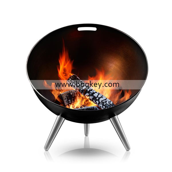 Outdoor Wood Charcoal Burning Large Round Steel Bowl Fire Pit