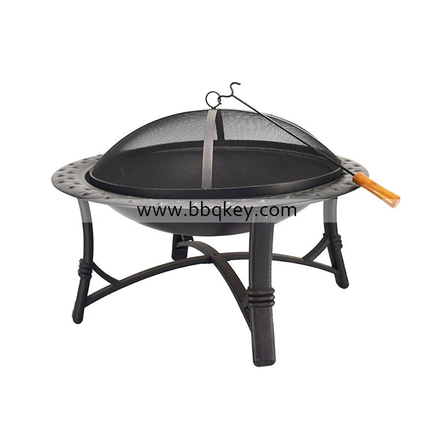 30 Round Metal Garden Stove Wood Burning Fire Pit