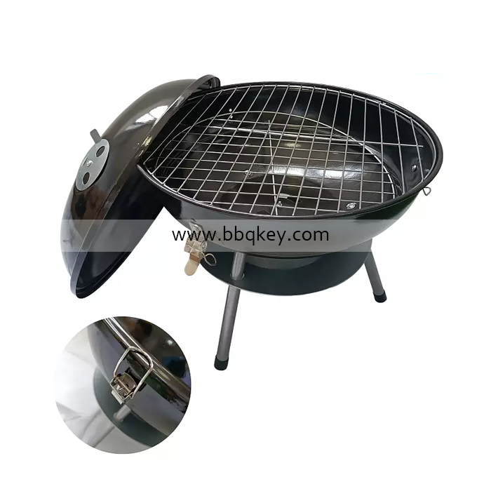 Wholesales Portable Small Size14 Inch Apple Grill  Apple Barbecue Charcoal Grill Kettle BBQ Grill