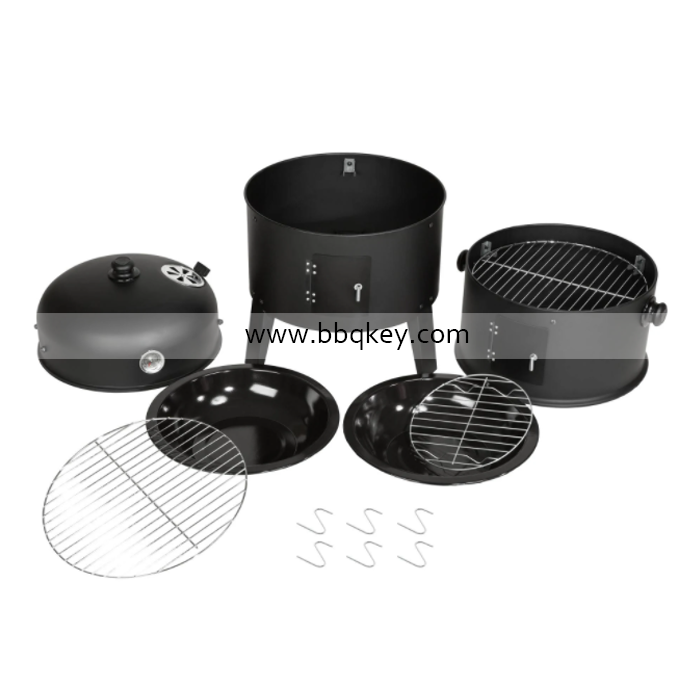 3 in 1 Smoker Grill BBQ 3 Layers 17 Inch BBQ Smoker Grill For Wholesales