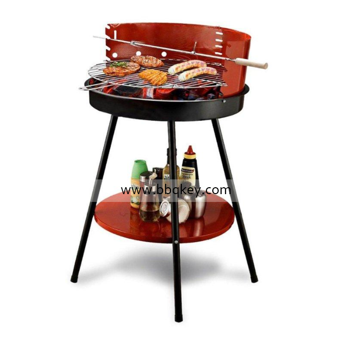14 Inch Mini Round Simple Charcoal BBQ Grill With 3 legs For Wholesales