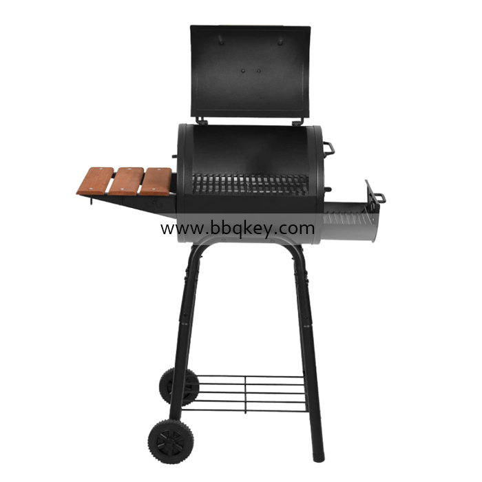 Charcoal Griller Patio Professional Charcoal Grill BBQ Smoker With Side Tray For Wholesales