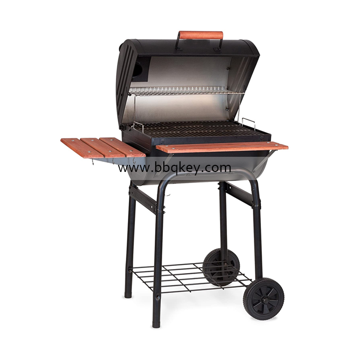 Charcoal Griller Trolley BBQ Charcoal Steam Smoker Grill For Wholesales