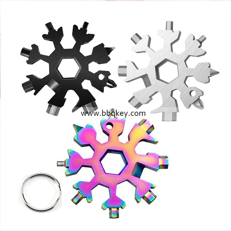Factory Supply 19 in 1 Adjustable Multifunctional Tool Portable Gear Spanner Snow Flake Wrench