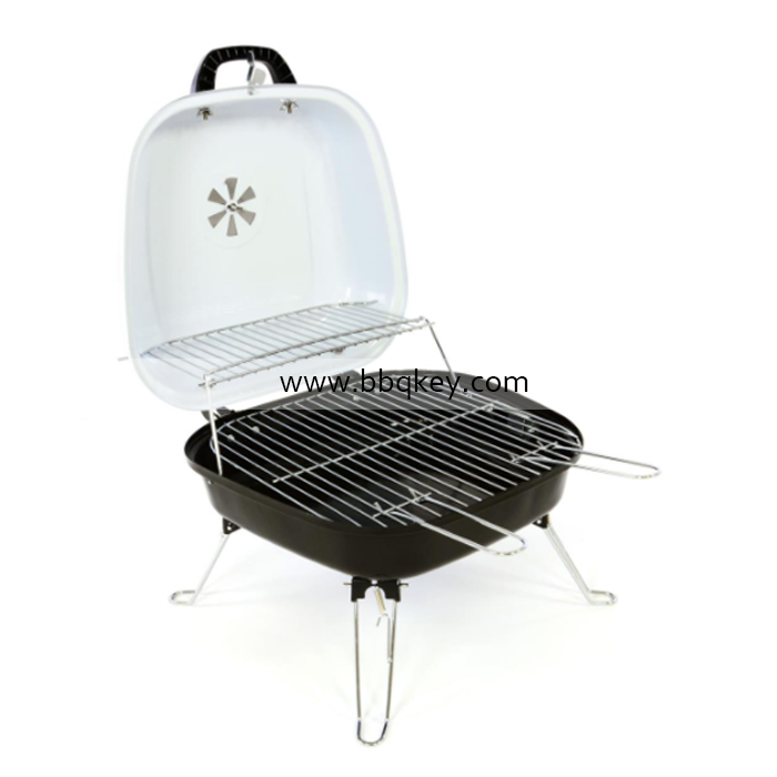 Folding Charcoal Barbecue Grill Portable Grill Stainless Steel BBQ Tool Kits for Outdoor Camping Cooking Traveling Patio Picnics Beach