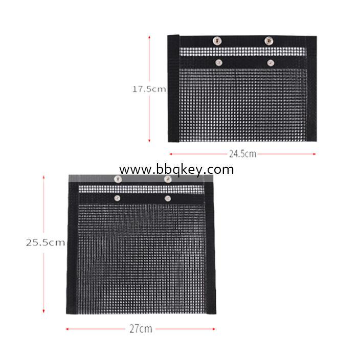 Non-stick Reusable Black Heat Resistant Oven Liner BBQ Grill Mat BBQ Cooking Mat Bag