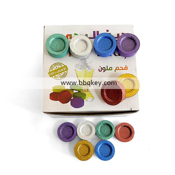 2021 Hot Sales Colorful Round Shisha Charcoal For Hookah Shisha Coconut Shell Charcoal