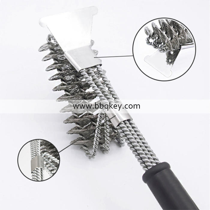 Factory Direct Price 3 in 1 BBQ Brush Accessories Helpful Tool For Cleaning