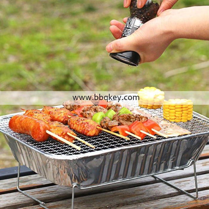 One time use mini barbecue instant grill disposable bbq