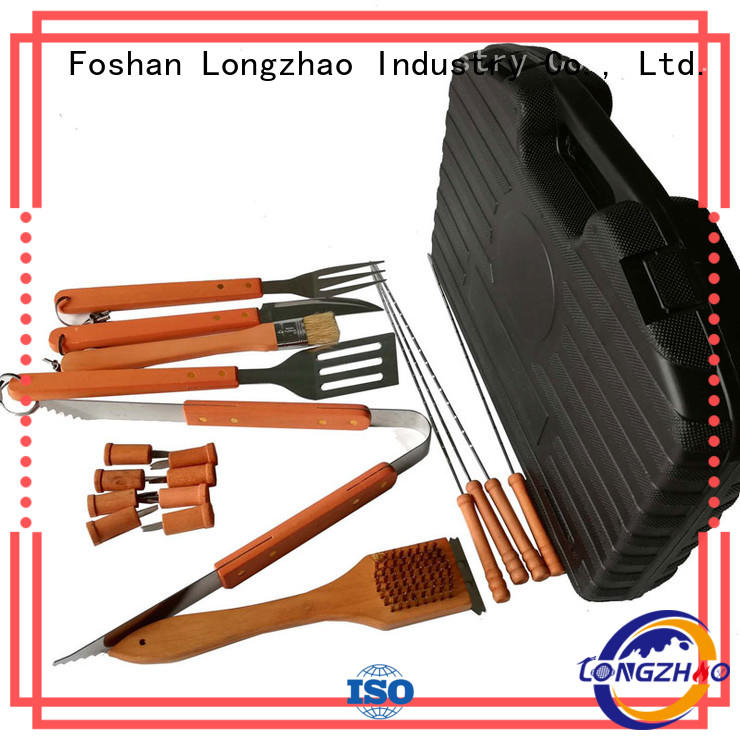 Longzhao BBQ heat resistance grill tool sets hot-sale for charcoal grill