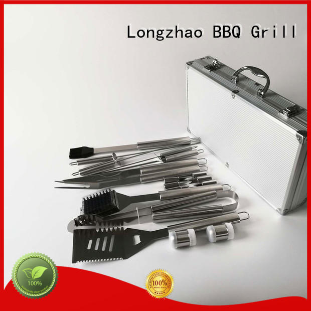 Longzhao BBQ folding grill basket best wooden for charcoal grill