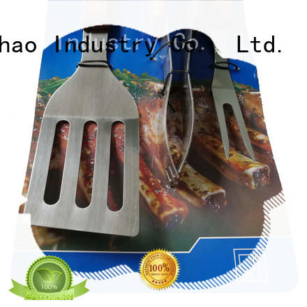 Longzhao BBQ stainless steel grilling utensil sets custom for charcoal grill