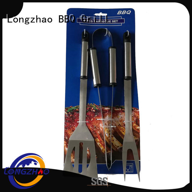 Longzhao BBQ easily cleaned bbq grill tool set by bulk for outdoor camping