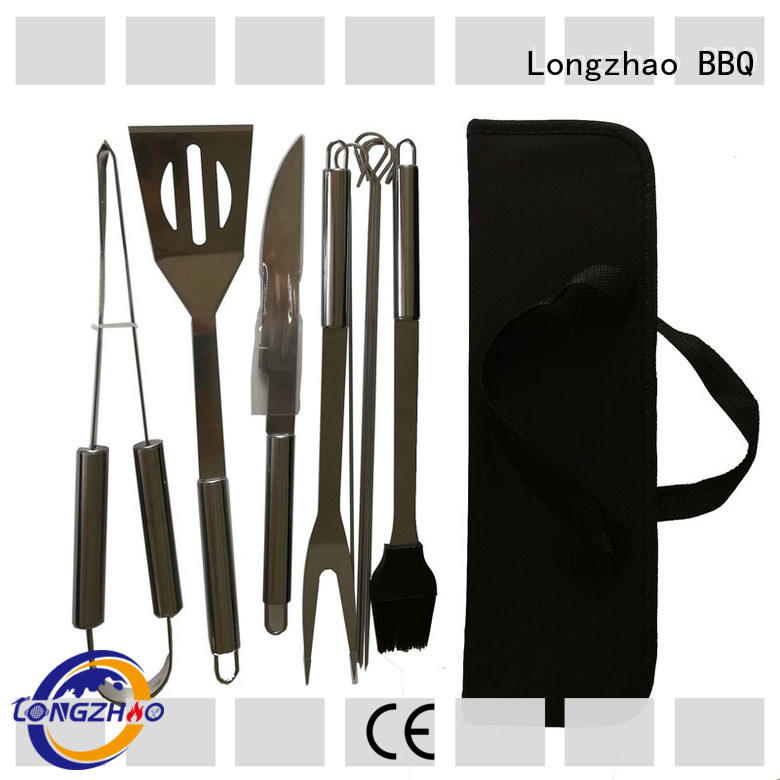 Longzhao BBQ folding grill utensil set best price for charcoal grill