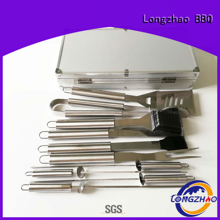 gas barbecue bbq grill 4+1 burner low price side Warranty Longzhao BBQ