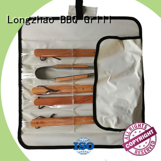 handle carried barbecue tool set oxford for outdoor camping Longzhao BBQ