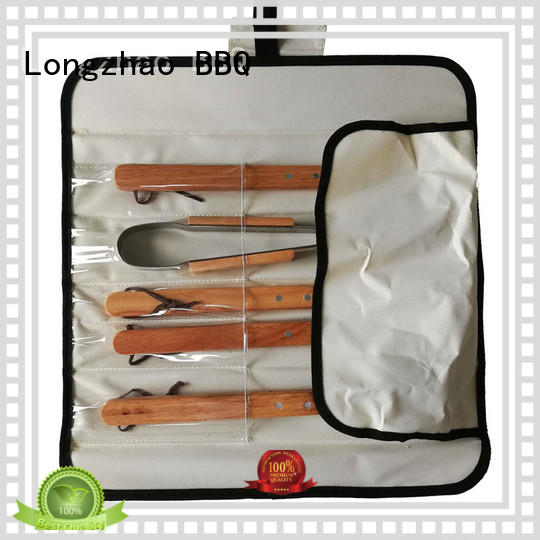 bbq grill tool set pvc for outdoor camping Longzhao BBQ