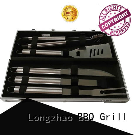 Longzhao BBQ folding barbecue tool set by bulk for gatherings