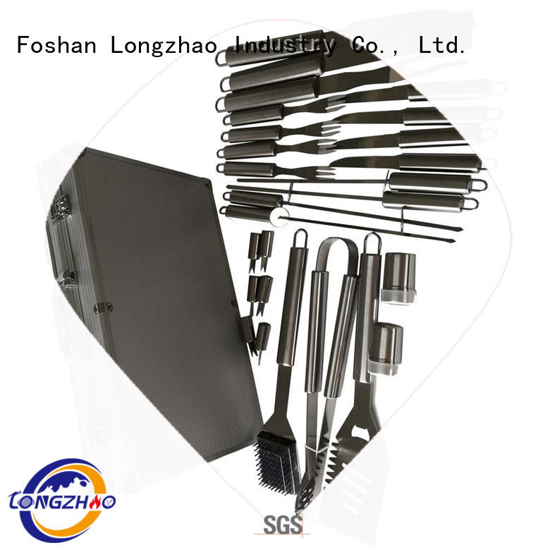 plastic barbecue tool set for outdoor camping Longzhao BBQ