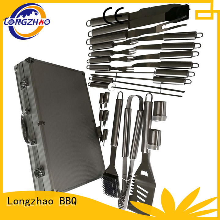 heat resistance folding grill basket inquire now for gas grill Longzhao BBQ