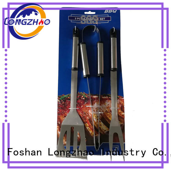 Wholesale 3pcs Stainless Steel BBQ Tools Set with Cardboard At Discount