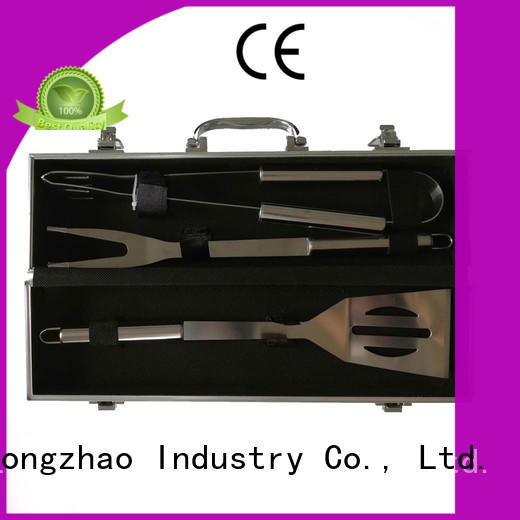 pvc barbecue tool set handle carried for charcoal grill Longzhao BBQ