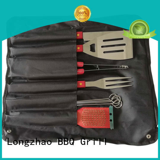 Longzhao BBQ grill tools set best price for outdoor camping