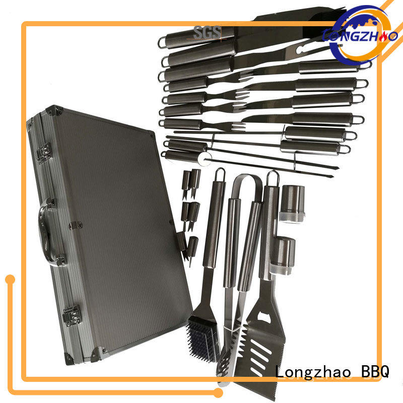 hot sale outdoor gas barbecue bbq grill 4+1 burner Longzhao BBQ manufacture