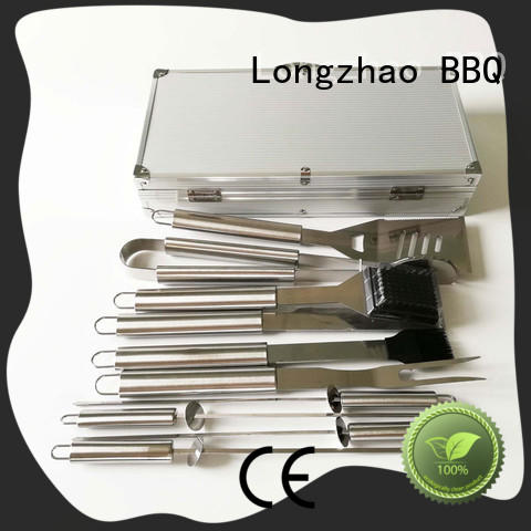 Longzhao BBQ heat resistance bbq fish basket best quality for gas grill