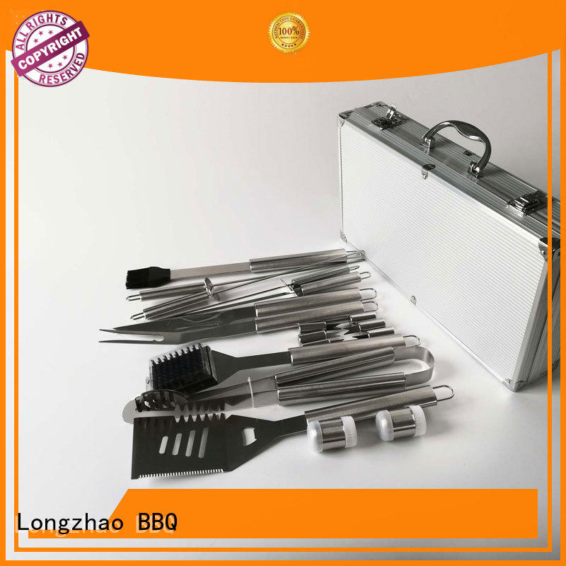 Longzhao BBQ high quality barbecue tool set oxford for gatherings