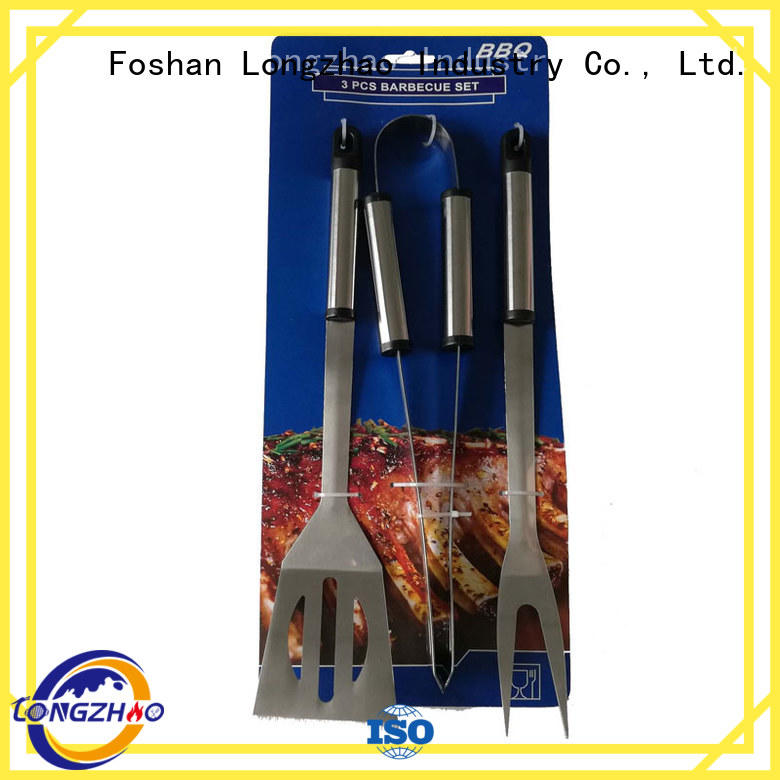 Longzhao BBQ portable grill utensil set hot-sale for charcoal grill