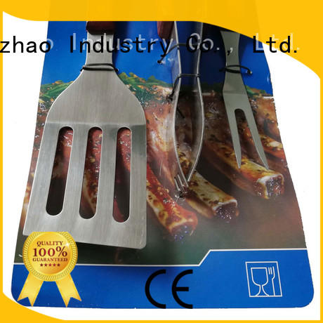 wooden grill basket for shrimp oxford Longzhao BBQ