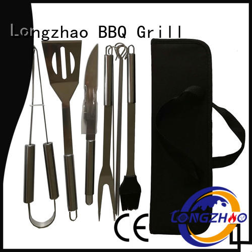 Longzhao BBQ portable grilling tool set custom for outdoor camping