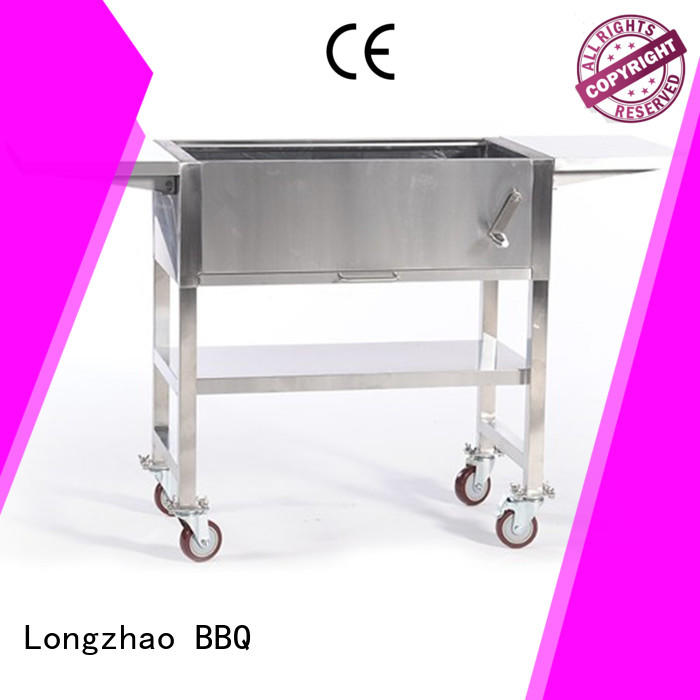 large small charcoal grill wheels for barbecue