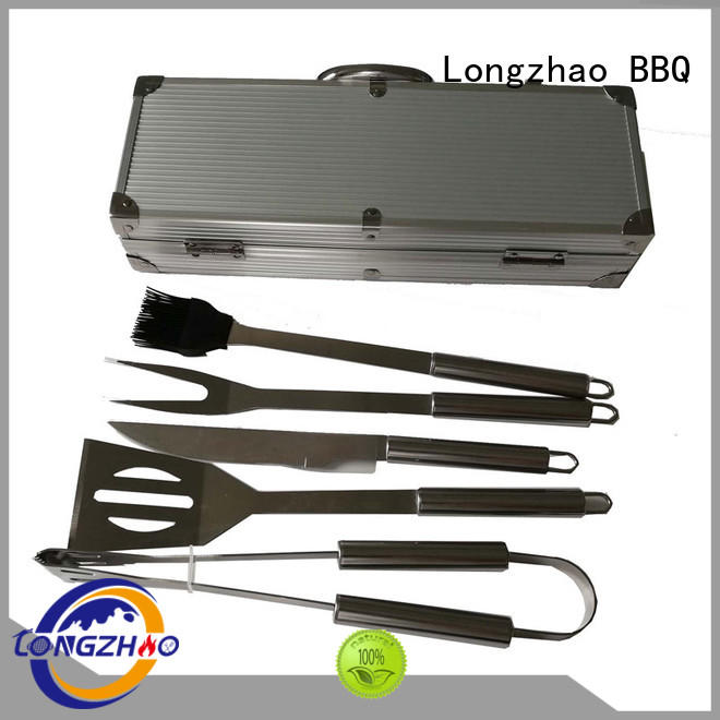 Quality Longzhao BBQ Brand gas barbecue bbq grill 4+1 burner gas low price