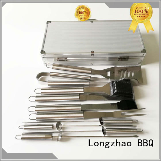 Longzhao BBQ pvc barbecue tool set factory price for charcoal grill